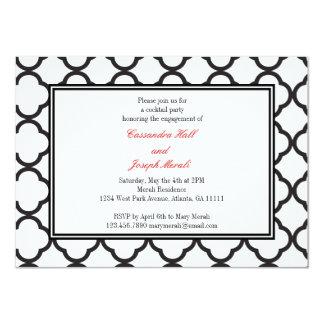 Affaire noire et blanche carton d'invitation  11,43 cm x 15,87 cm