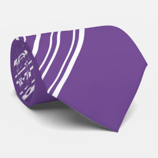 Affaire pourpre et rayures blanches 2 de diagonale cravate customisée