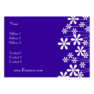 Affaires blanches de bleu de fleur de ressort de c carte de visite grand format