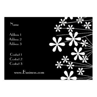 Affaires blanches de noir de fleur de ressort de c carte de visite grand format