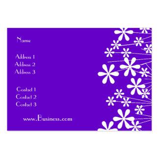 Affaires blanches de pourpre de fleur de ressort d cartes de visite professionnelles