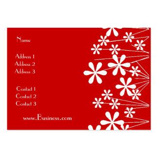 Affaires blanches de rouge de fleur de ressort de  carte de visite grand format