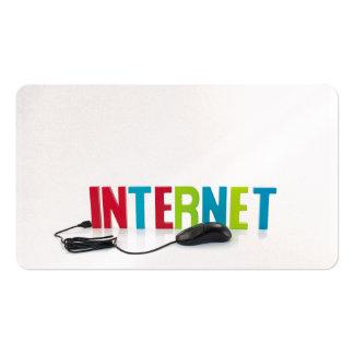 affaires d'aide d'Internet Carte De Visite Standard