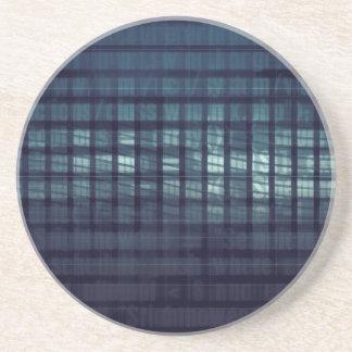 Affaires de concept et de données numériques de dessous de verre