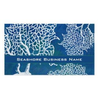 Affaires de corail de l'eau de bord de la mer d'oc modèles de cartes de visite