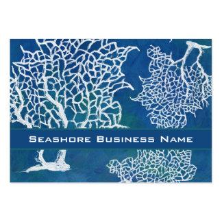 Affaires de corail de l'eau de bord de la mer d'oc carte de visite