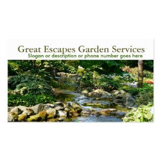 Affaires de jardinage de paysagiste de l'eau de ja carte de visite