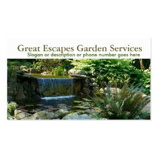 Affaires de jardinage de paysagiste de l'eau de ja modèle de carte de visite
