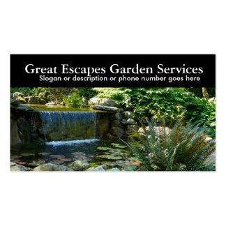 Affaires de jardinage de paysagiste de l'eau de ja modèles de cartes de visite