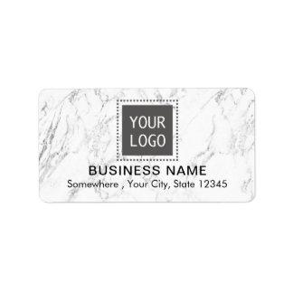 Affaires de marbre blanches modernes de logo fait étiquette d'adresse