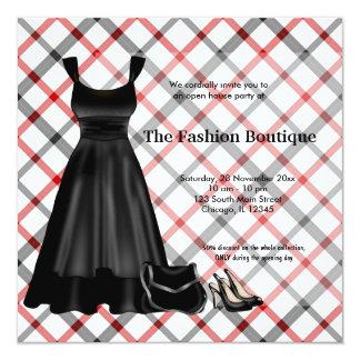 Affaires de mode d'ouverture officielle (noir) carton d'invitation  13,33 cm