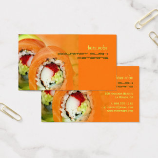 Affaires de restauration gastronomes de sushi de cartes de visite
