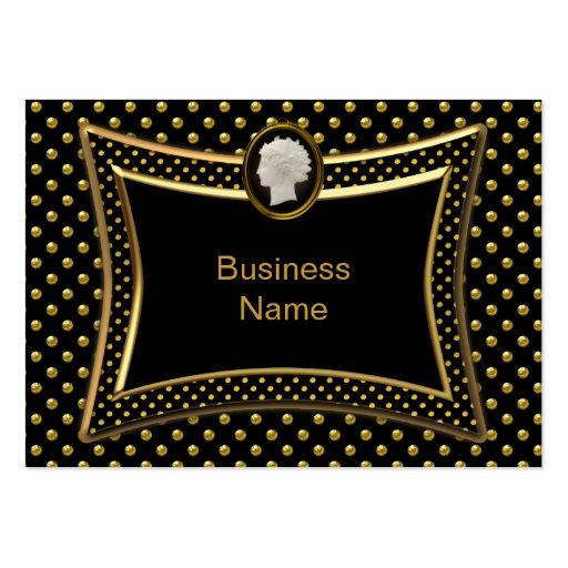 Affaires élégantes de tache noire d'or de camée modèle de carte de visite