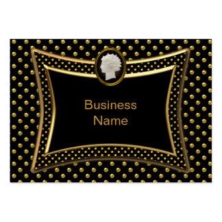 Affaires élégantes de tache noire d'or de camée carte de visite grand format
