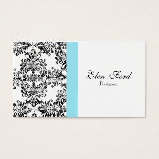 Affaires élégantes noires et blanches et bleues de cartes de visite
