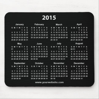 Affaires noires et blanches de 2015 calendriers tapis de souris