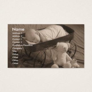 Affaires ou faire-part de bébé cartes de visite