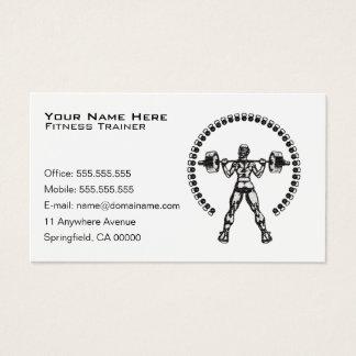 Affaires personnelles d'entraîneur de forme cartes de visite