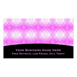 Affaires roses et blanches Cardi de tuile Carte De Visite Standard