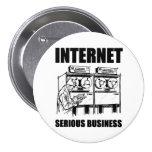 Affaires sérieuses d'Internet Pin's Avec Agrafe