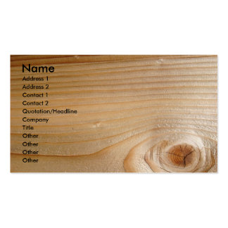 Affaires sur le bois non fini carte de visite standard
