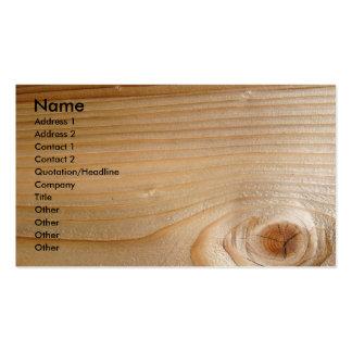 Affaires sur le bois non fini modèles de cartes de visite
