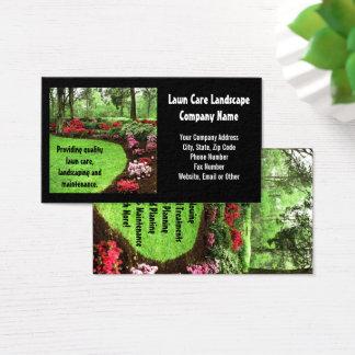 Affaires vertes de soin de pelouse de paysage de cartes de visite
