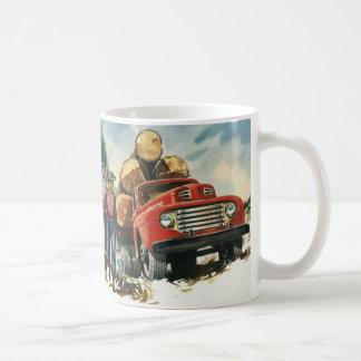 Affaires vintages, camion de notation avec des mug