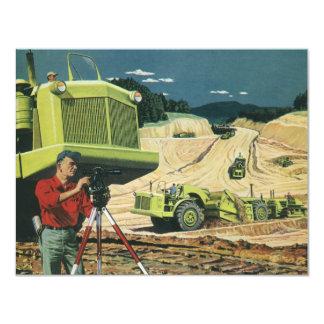 Affaires vintages, chantier de construction avec carton d'invitation 10,79 cm x 13,97 cm