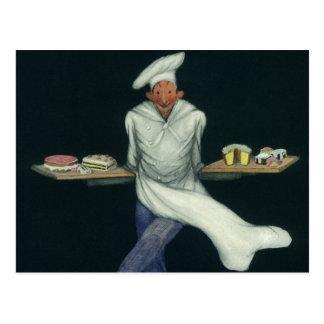 Affaires vintages de nourriture, Baker avec des Cartes Postales