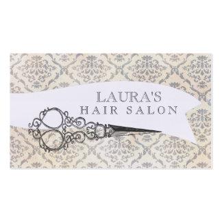 Affaires vintages de salon de coiffure de ciseaux carte de visite standard