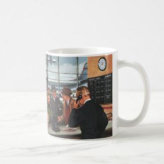 Affaires vintages, les gens au compteur de billet mug