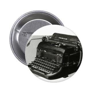 Affaires vintages, machine à écrire antique de badge
