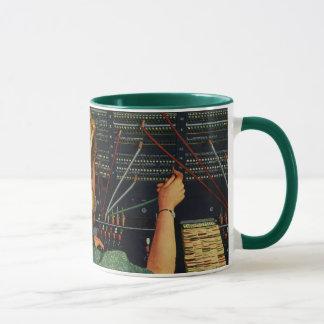 Affaires vintages, standardiste de téléphone mug
