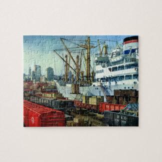 Affaires vintages, transport accouplé de cargo puzzle