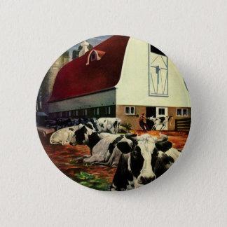Affaires vintages, vaches à lait du Holstein à Badges