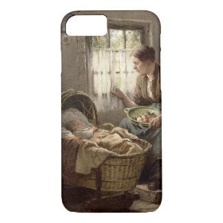 Affection maternelle (huile sur la toile) coque iPhone 8/7