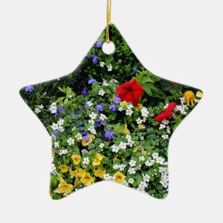 Affichage floral 2 ornement étoile en céramique