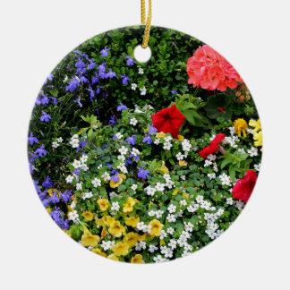 Affichage floral 2 ornement rond en céramique