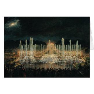 Affichage lumineux de fontaine carte de vœux