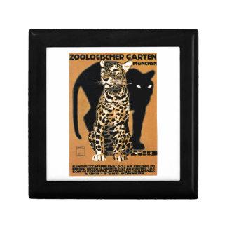 Affiche 1912 de zoo de Munich de léopard de Ludwig Boîte À Souvenirs
