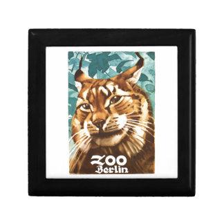 Affiche 1930 de Lynx de zoo de Ludwig Hohlwein Boîte À Souvenirs