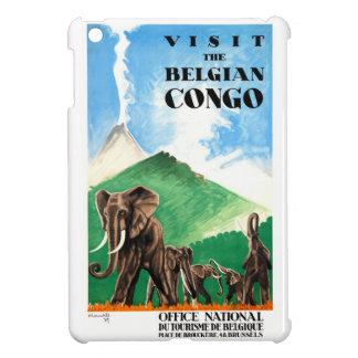 Affiche 1939 de voyage d'éléphants du Congo belge Étui iPad Mini