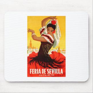 Affiche 1959 juste de l'Espagne Séville avril Tapis De Souris