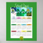 """Affiche 2014 de calendrier de """"jours d'école"""" de s"""