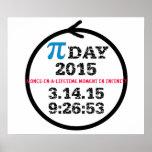 Affiche 2015 de jour de pi : Célébrez l'infini !