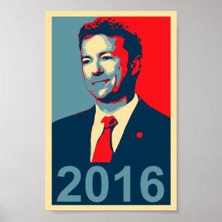 Affiche 2016 de style de Paul Obama de couche-poin