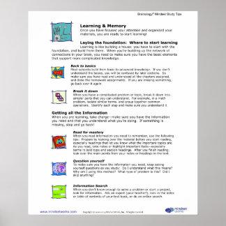Affiche 5 de Brainology® : Étude et mémoire Posters