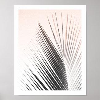 Affiche | 8x10 rose de feuille de palmier poster