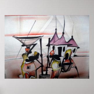 Affiche à la maison africaine 2 de décor